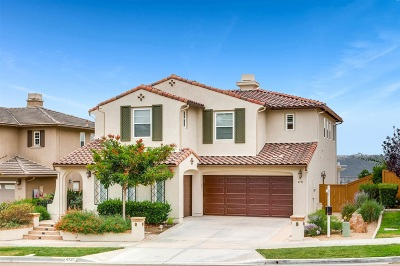 Carlsbad Single Family Home Sold: 4731 Crater Rim Rd