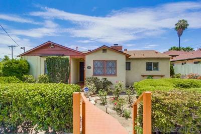 La Mesa Single Family Home For Sale: 8885 Lemon Ave