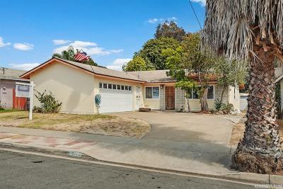 San Diego Single Family Home For Sale: 7217 Werner Street