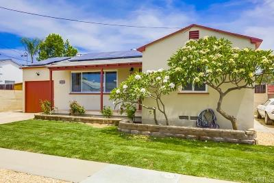 San Diego Single Family Home For Sale: 4712 Baily Place