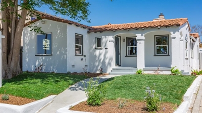 San Diego Single Family Home For Sale: 4607 Constance Dr