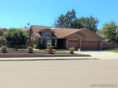 Bonsall Single Family Home Contingent: 5915 Rio Valle Dr