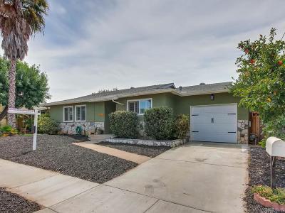 Escondido CA Single Family Home For Sale: $439,500