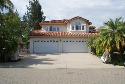 Escondido CA Single Family Home For Sale: $865,000