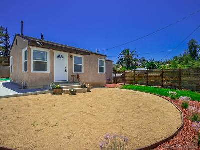San Diego Single Family Home For Sale: 1643 Winnett