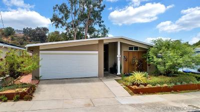 San Diego Single Family Home For Sale: 5473 Baja Dr