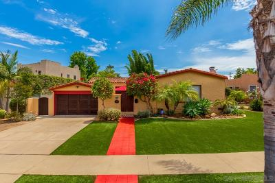 San Diego Single Family Home For Sale: 4185 Rochester Rd