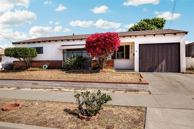 Clairemont Single Family Home For Sale: 4610 Blackfoot Ave