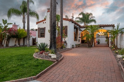 San Diego Single Family Home For Sale: 4531 59th St.