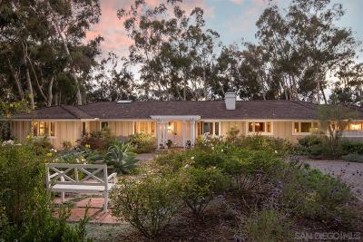 Single Family Home For Sale: 15250 Las Planideras
