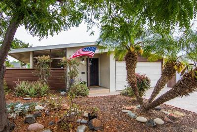 San Diego CA Single Family Home For Sale: $1,200,000