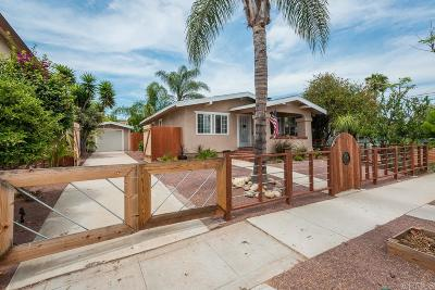 San Diego Single Family Home For Sale: 4586 Wilson Ave