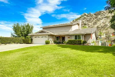 Ramona CA Single Family Home For Sale: $625,000