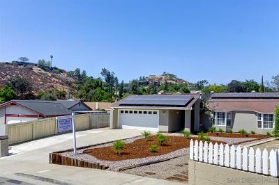 La Mesa Single Family Home For Sale: 10208 Alta Terrace