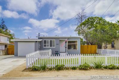 San Diego Single Family Home For Sale: 3365 Meridian Ave