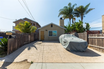 San Diego Single Family Home For Sale: 1327 Lehigh St