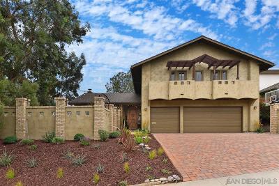 La Jolla Single Family Home For Sale: 5525 Bahia Lane