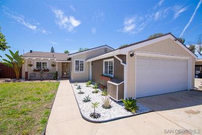 Clairemont, Clairemont Mesa, Clairemont Mesa East, Clairemont Unit 16, Clairmont Single Family Home For Sale: 2828 Deerpark Dr