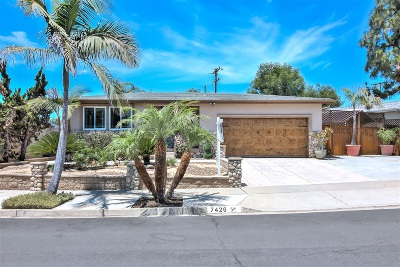 Clairemont, Clairemont Mesa, Clairemont Mesa East, Clairemont Unit 16, Clairmont Single Family Home For Sale: 7426 Blix