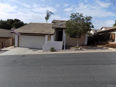 Escondido Single Family Home Sold: 1972 Maverick Gln