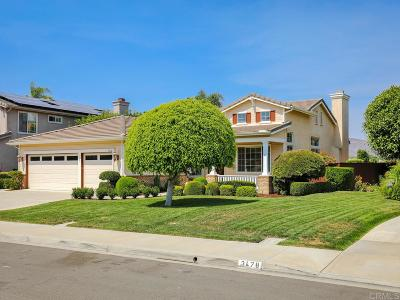 Carlsbad Single Family Home Sold: 3472 Corte Clarita