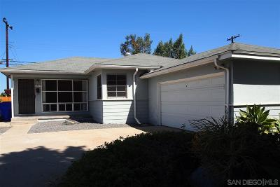 San Diego Single Family Home For Sale: 5368 Waring Rd