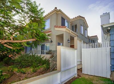 Pacific Beach, Mission Beach Townhouse For Sale: 1162 Pacific Beach Dr