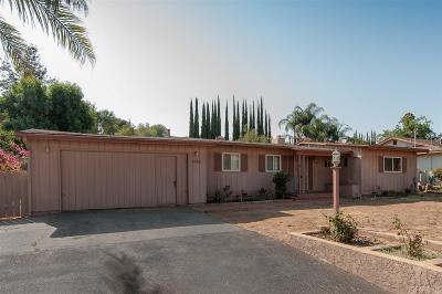 Escondido Single Family Home For Sale: 1640 Bear Valley Pkwy
