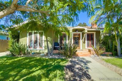 San Diego Single Family Home For Sale: 3204 Felton Street