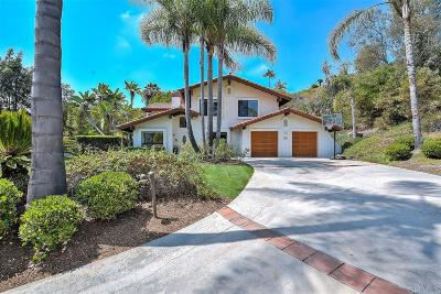 Encinitas Single Family Home For Sale: 2205 Running Spring Pl