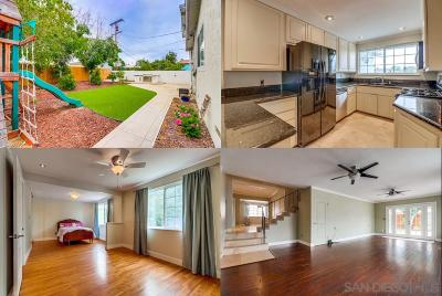 Clairemont, Clairemont East, Clairemont Mesa, Clairemont Mesa East Single Family Home For Sale: 7472 Brentwood