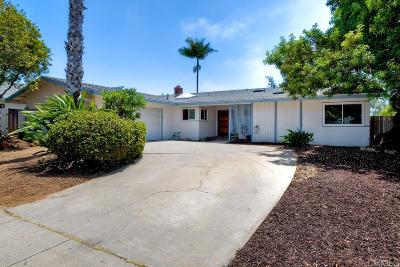 Carlsbad Single Family Home For Sale: 3185 Monroe St