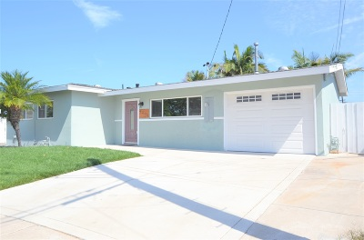 Clairemont, Clairemont East, Clairemont Mesa, Clairemont Mesa East Single Family Home For Sale: 4696 Paola Pl