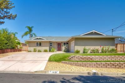 Poway Single Family Home For Sale: 14167 Halper Rd