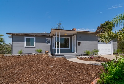 San Diego County Single Family Home For Sale: 3035 Palmer