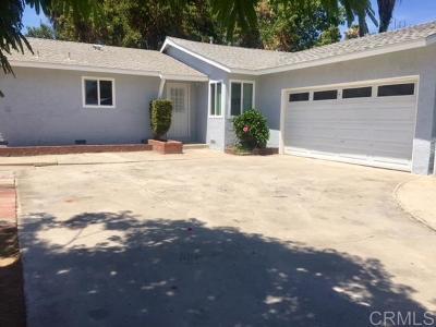 Escondido Single Family Home For Sale: 917 Cedar Street