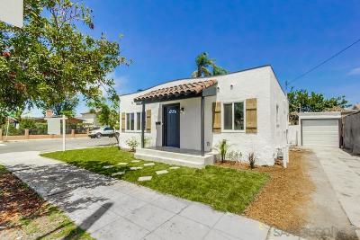 San Diego Single Family Home For Sale: 4152 Orange