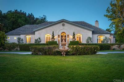 Rancho Santa Fe Single Family Home Pending: 6418 Via Dos Valles