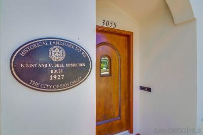 San Diego Single Family Home Pending: 3055 Palm Street