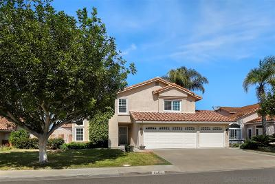 Oceanside Single Family Home For Sale: 1589 Avenida Andante