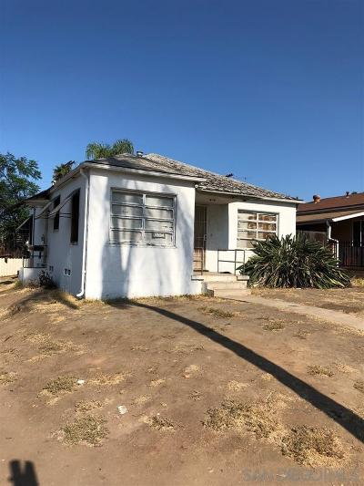 San Diego Single Family Home For Sale: 3804 Chamoune Avenue