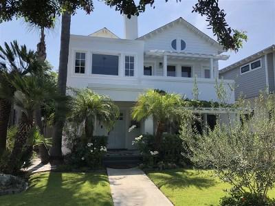 Coronado Single Family Home For Sale: 749 I Avenue