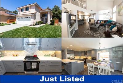 Escondido Single Family Home For Sale: 29501 Platanus Dr