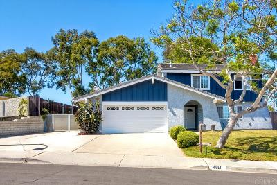 Carlsbad Single Family Home For Sale: 4951 Avila Avenue