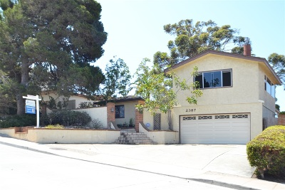 Mission Hills, Mission Hills/Hillcrest, Mission Valley Single Family Home For Sale: 2387 Juan St