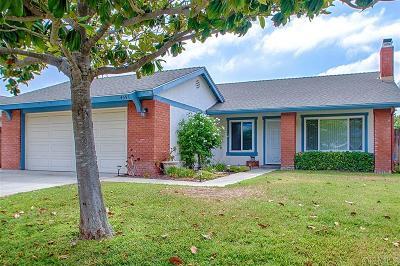 Oceanside Single Family Home For Sale: 4591 Big Sur St