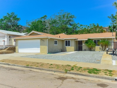 Santee Single Family Home For Sale: 8524 Big Rock Rd