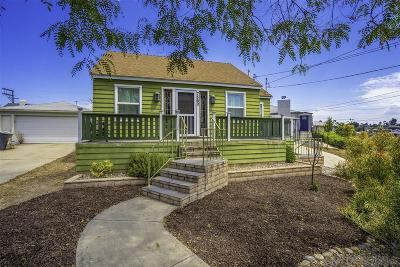 La Mesa Single Family Home For Sale: 7560 Olive Pl