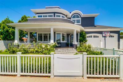 Coronado Single Family Home For Sale: 111 Acacia Way