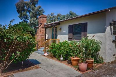 Carlsbad Single Family Home For Sale: 3997 Park Dr